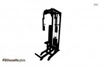 Shoulder Press Machine Professional Gym Equipment Silhouette