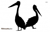 Black Flying Geese Silhouette Image