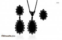Pendant Earrings With Chain Silhouette
