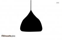 Pendant Lighting Silhouette Vector Illustration