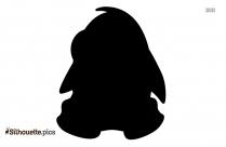 Cartoon Penguin With Mic Silhouette