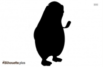 Penguin Silhouette Vector Image