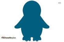 Black Penguin Standing Silhouette Image