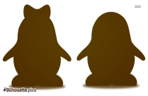 Penguins In Love Silhouette