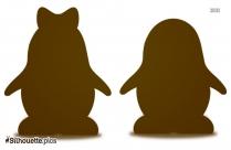 Penguin In Love Silhouette Art
