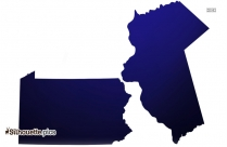 Pennsylvania Silhouette Image And Vector