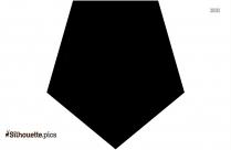 Regular Pentagon Silhouette Outline