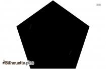 Pentagon Shape Silhouette