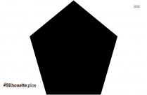 Pentagon Silhouette Art