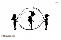 Black Cheer Jumps Silhouette Image