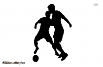 Playing Soccer Silhouette, Free Vector Art
