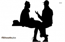 Valentine Couple Cartoon Silhouette Picture