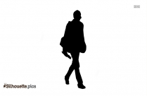 Walking Icon ClipArt Silhouette
