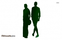 Walking Men Silhouette Free Vector Art