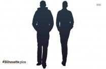 People Walking Vector Silhouette