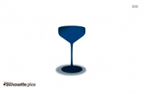 Glass Of Wine Silhouette Image