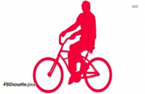 Bicycle Silhouette Icon Vector