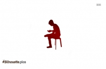 Girl Sitting Silhouette Drawing