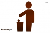 Person Throwing Waste Silhouette Illustration