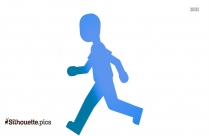 Person Walking Silhouette Illustration, Vector