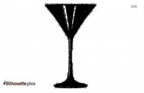 Personalized Martini Glasses Silhouette