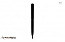 Personalized Pens Silhouette Clip Art