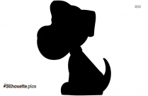 Siberian Husky Puppy Drawing Silhouette