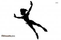 Peter Pan Flying Silhouette Drawing
