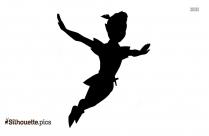 Peter Pan Silhouette Free Vector Art