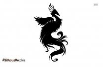 Cartoon Funny Flying Bird Silhouette