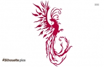 Small Phoenix Tattoo Silhouette Background