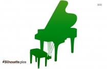 Grand Piano Cartoon Silhouette Image