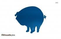 Baby Pig Vector Silhouette