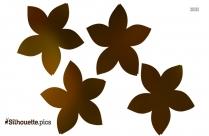 Simple Flower Clip Art Silhouette Image