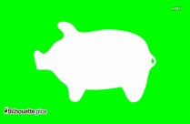 Cartoon Pig Tattoo Silhouette