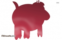 Pig Drawing Vector Silhouette