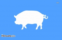 Pig  Clipart || Piggie Silhouette Image