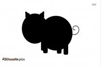 Pig Head Clip Art Silhouette