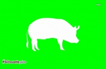 Free Cartoon Pig Vector Silhouette