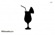 Pina Colada Drink Silhouette Clip Art