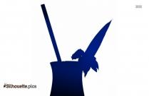 Pina Colada Drink Silhouette Illustration