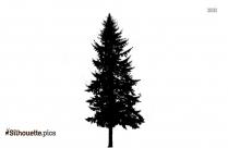 Cartoon Tree Vector Silhouette