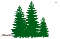 Pine Tree Silhouette Vector And Graphics
