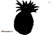 Cartoon Fruits And Vegetables Symbol Silhouette