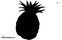 Pineapple Slices Silhouette Drawing