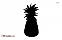 Pineapple Slices Silhouette Image