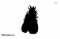 Cartoon Pineapple Silhouette Vector