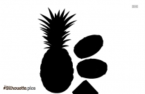 Pineapple Fruit Silhouette Clipart Picture