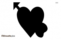 Heart With Arrow Emoji Silhouette