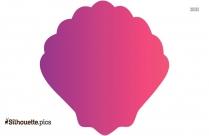 Pink Seashell Free Clip Art Silhouette
